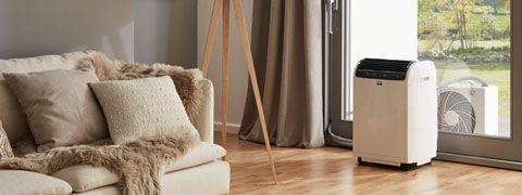 Lokale ruimte-airconditioner in de woonkamer