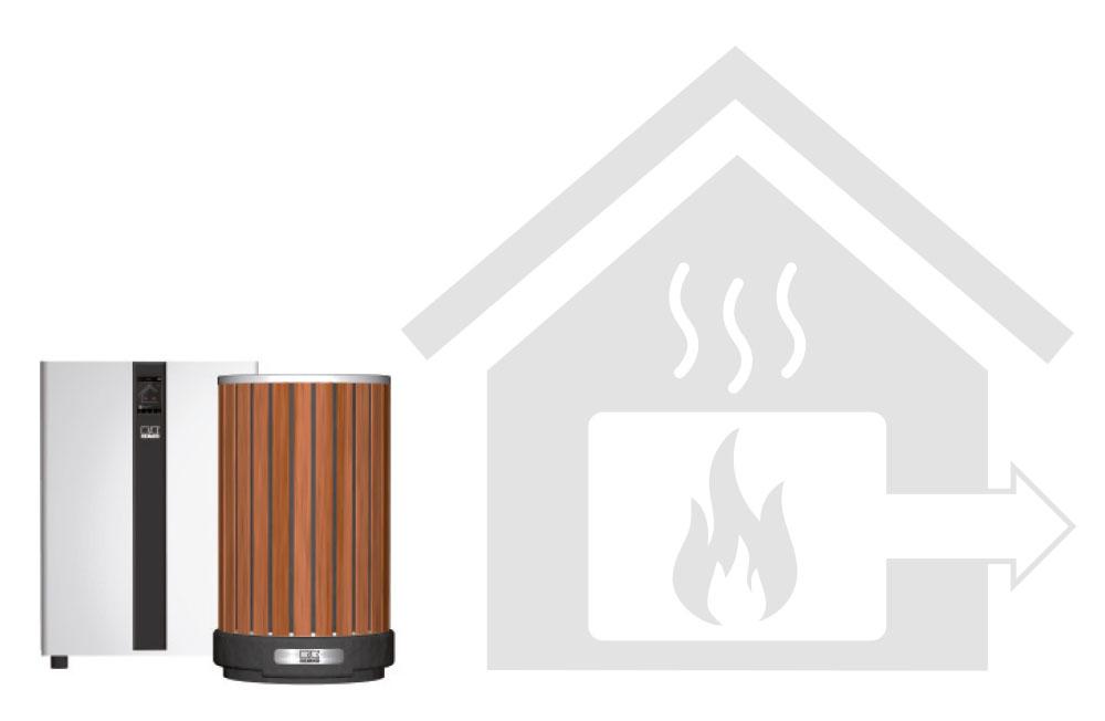 Austausch eines Ölkessels durch eine ARTstyle-Wärmepumpe