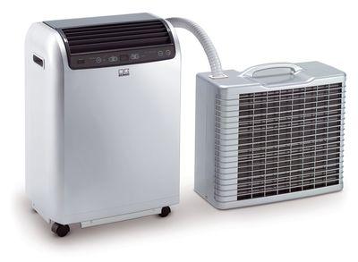 Lokale ruimte-airconditioner RKL 495 DC met buitenunit en binnenunit - kleur zilver