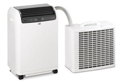 Lokale ruimte-airconditioner RKL 495 DC met buitenunit en binnenunit - kleur wit